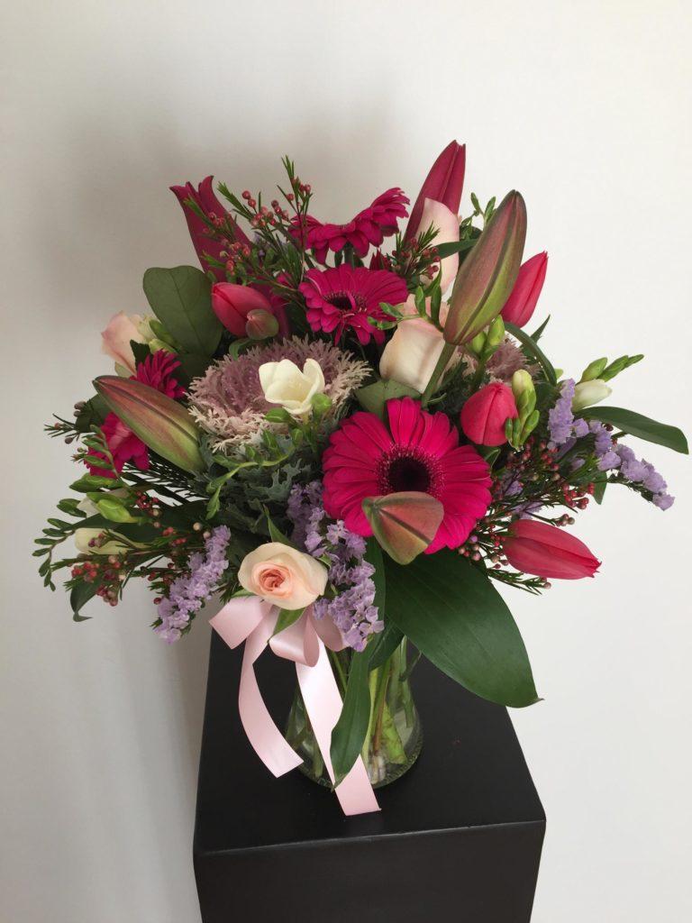 & Bright \u0026 Feminine Floral Vase Arrangement - Frances Dunn Florist